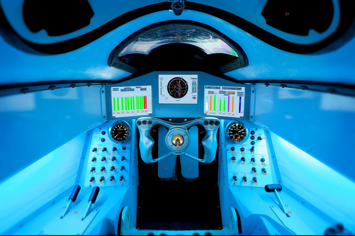 The Bloodhound's cockpit (Photo: Stefan Marjoram)