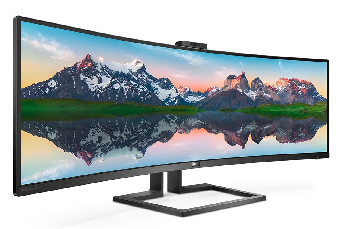 The 49-inch Philips Brilliance panel offers a5,120 x 1,440 pixel resolution