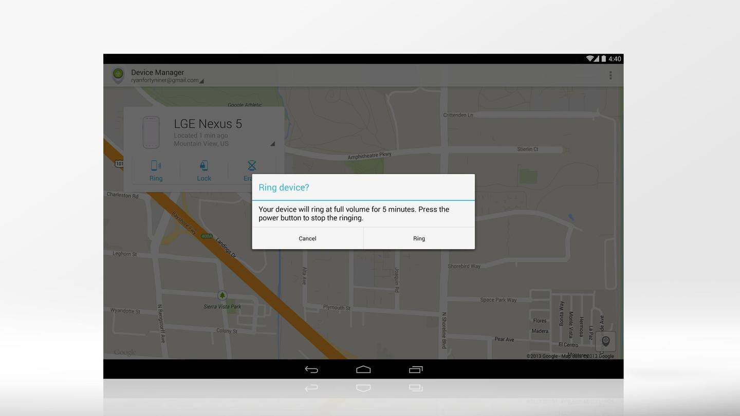 Android Device Manager helps you find a lost Android device