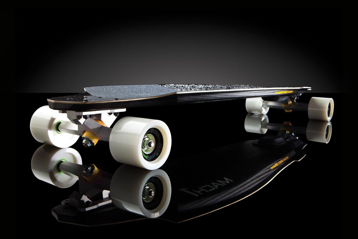 Multi-modal geolocation hardware designer and manufacturer Edgetrak and performance skateboard producer wefunk have joined forces to create a telemetrics-enabled longboard prototype named the Mach1