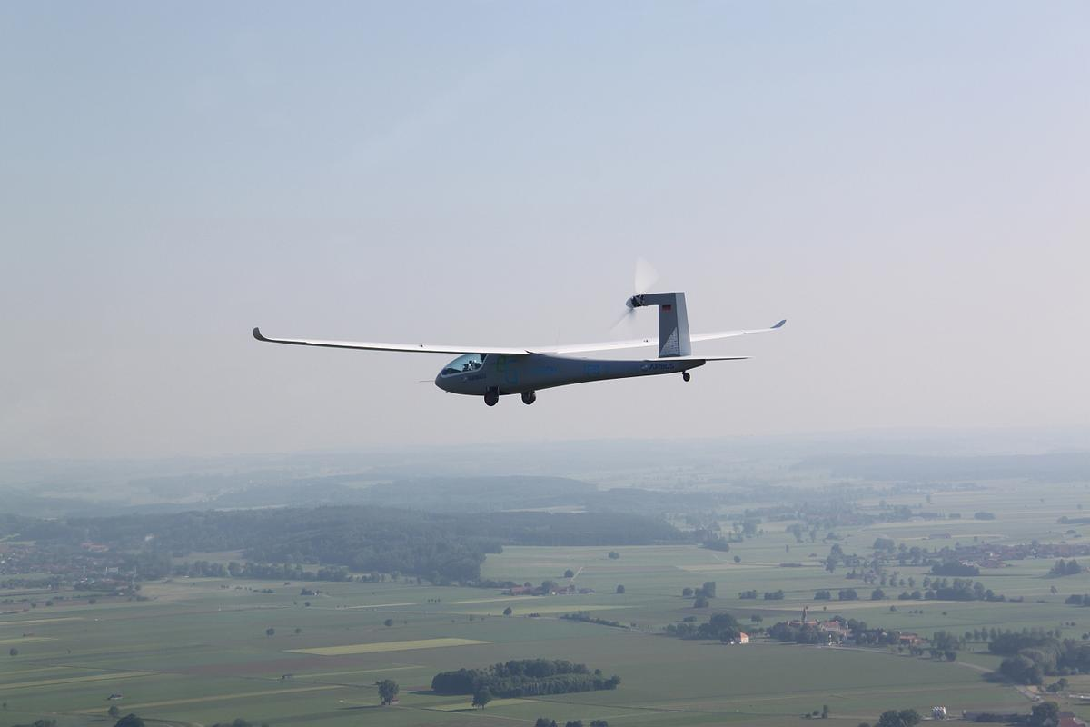The electric powered eGenius concept demonstrator on its successful maiden flight