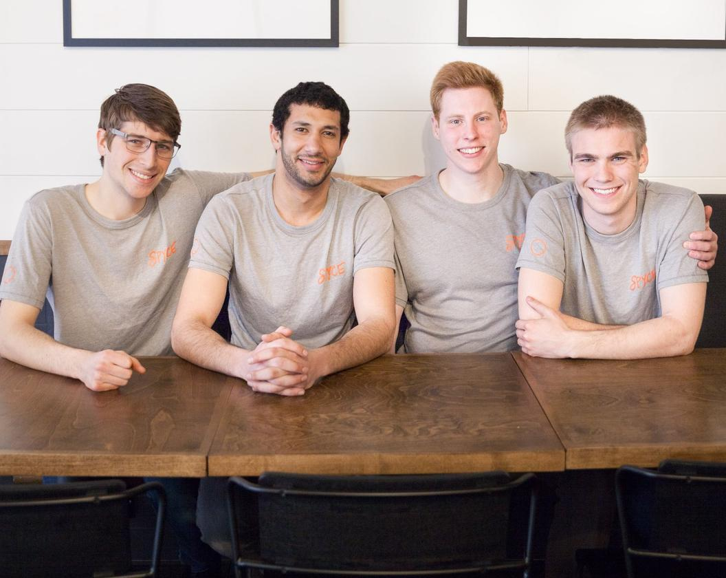 The Spyce co-founders, from left: Braden Knight, Michael Farid, Kale Rogers and Luke Schlueter