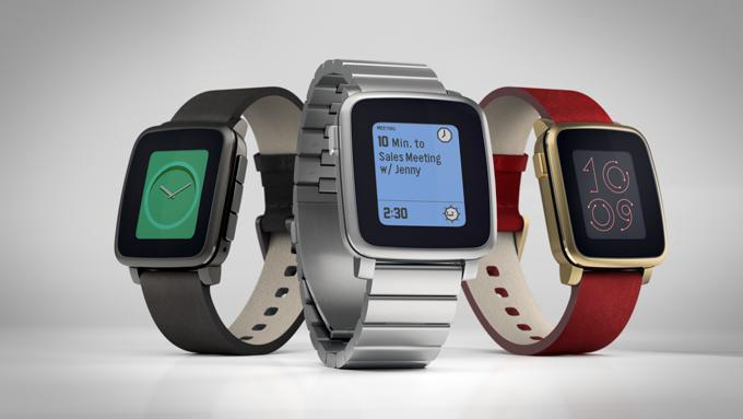 Three colors of Pebble Time Steel