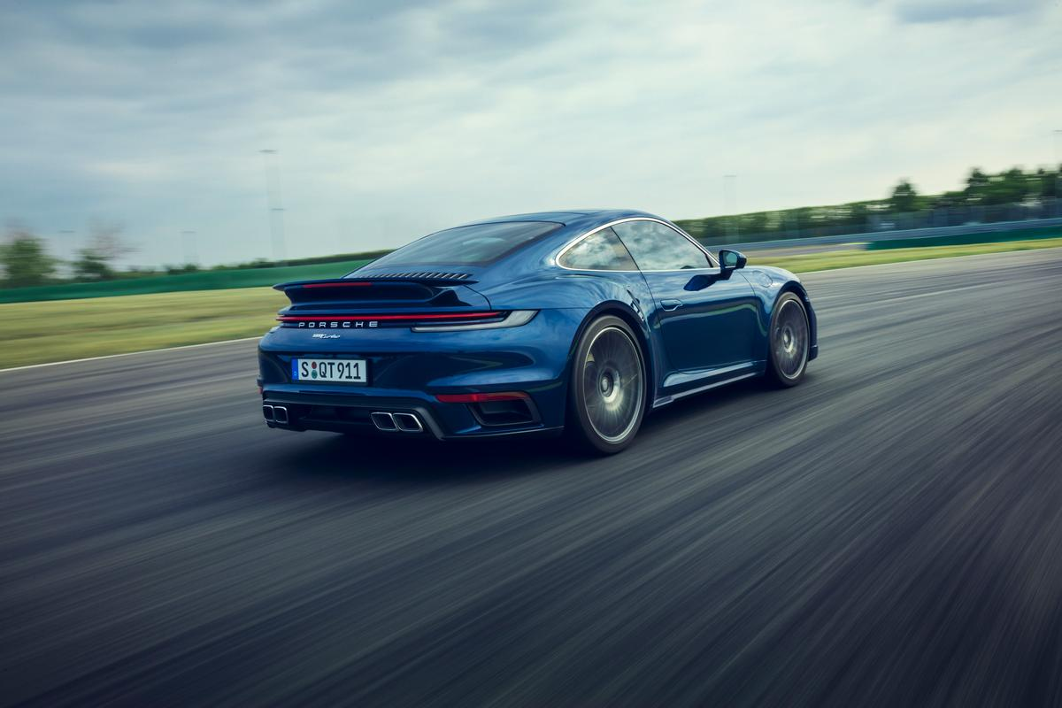 With its 572-hp twin-turbo six-cylinder, the Porsche 911 Turbo sprints from 0 to 60 mph in 2.7 seconds