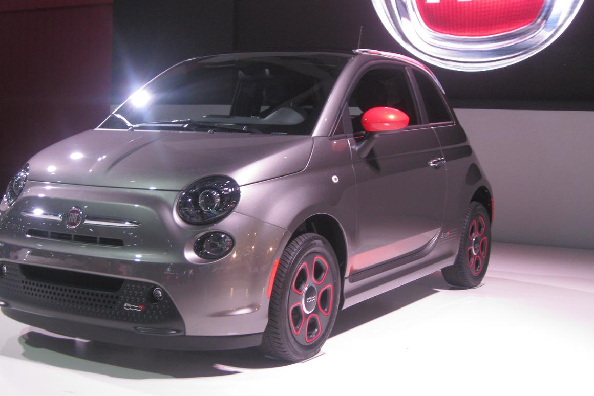 Fiat revealed the 500e at the 2012 LA Auto Show
