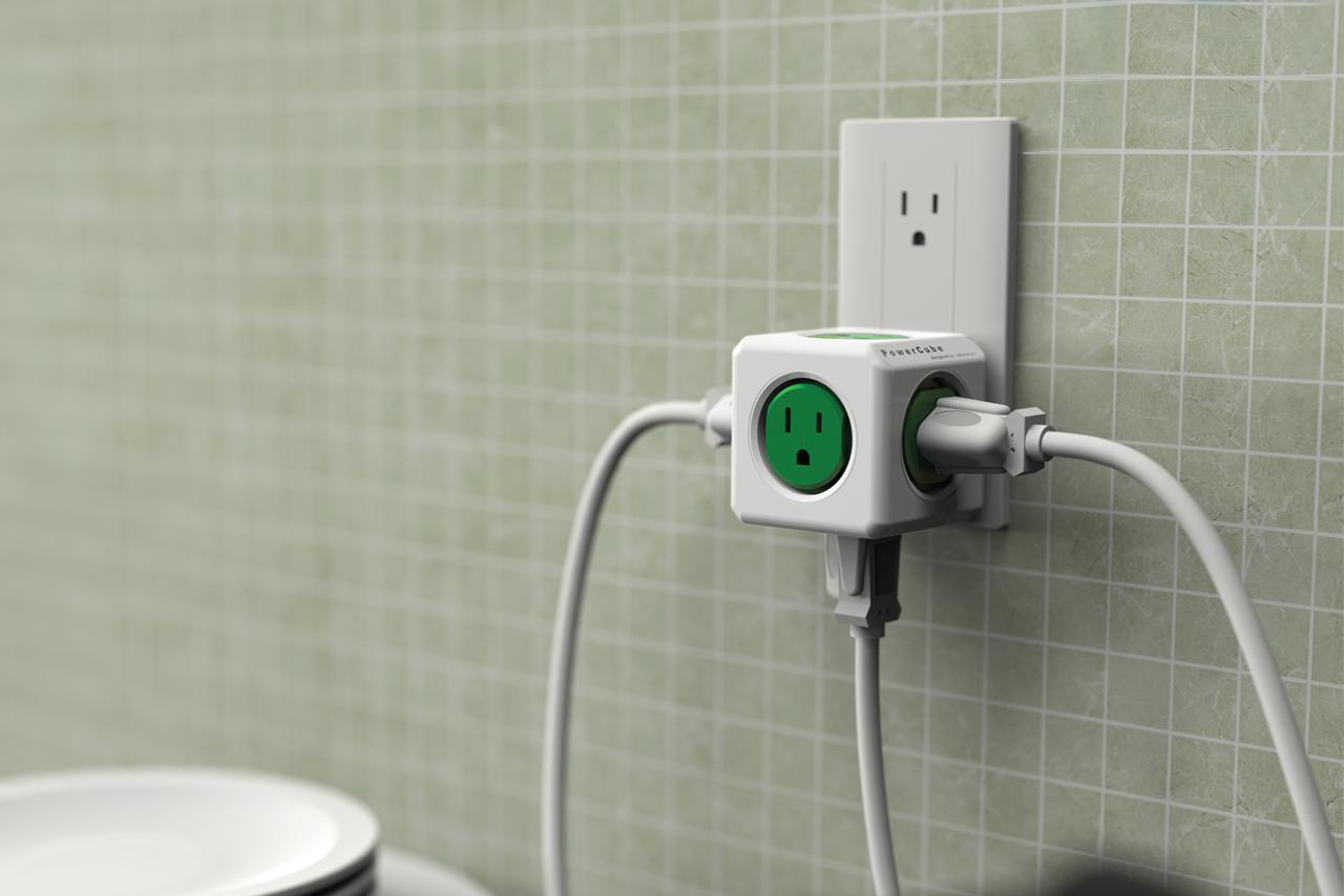 The PowerCube Original offers five conventional outlets