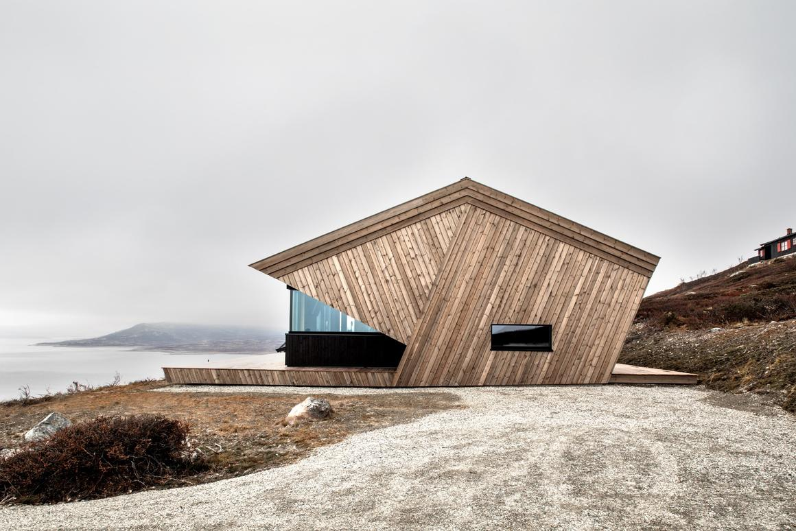 The Hooded Cabin is located atop a mountain in Norway and measures 73 sq m (785 sq ft)