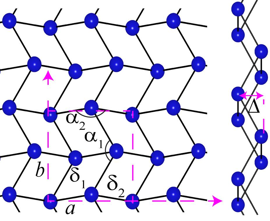 A model of the atomic structure of gallenene