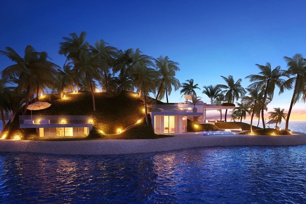 The new private islands each feature a garden, a pool and a beach, and can be tailored to meet the needs of the client