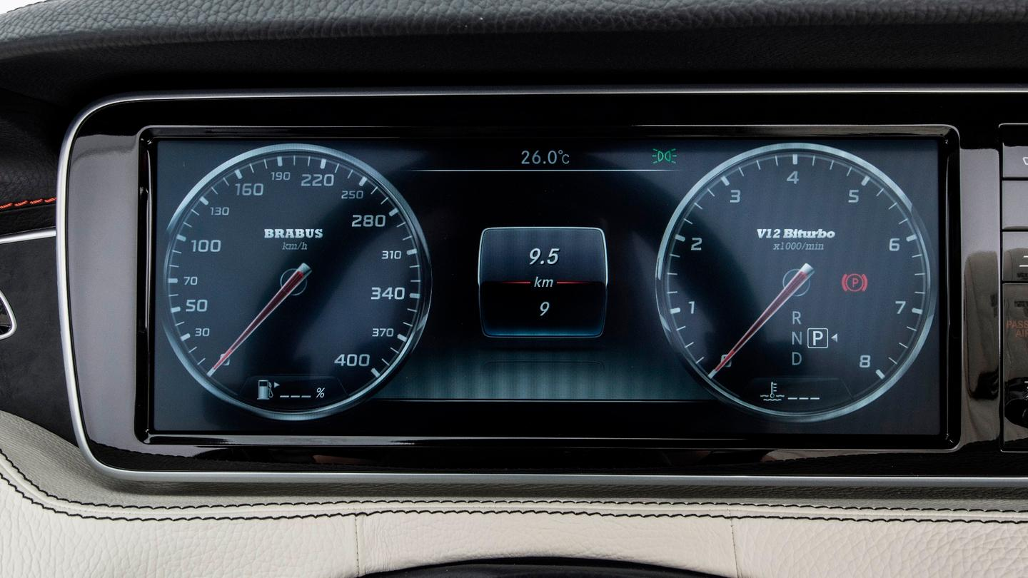 It looks just like a standard SL 65 speedo at a glance, until you realize the branding is different and the numbers go all the way to 400 km/h