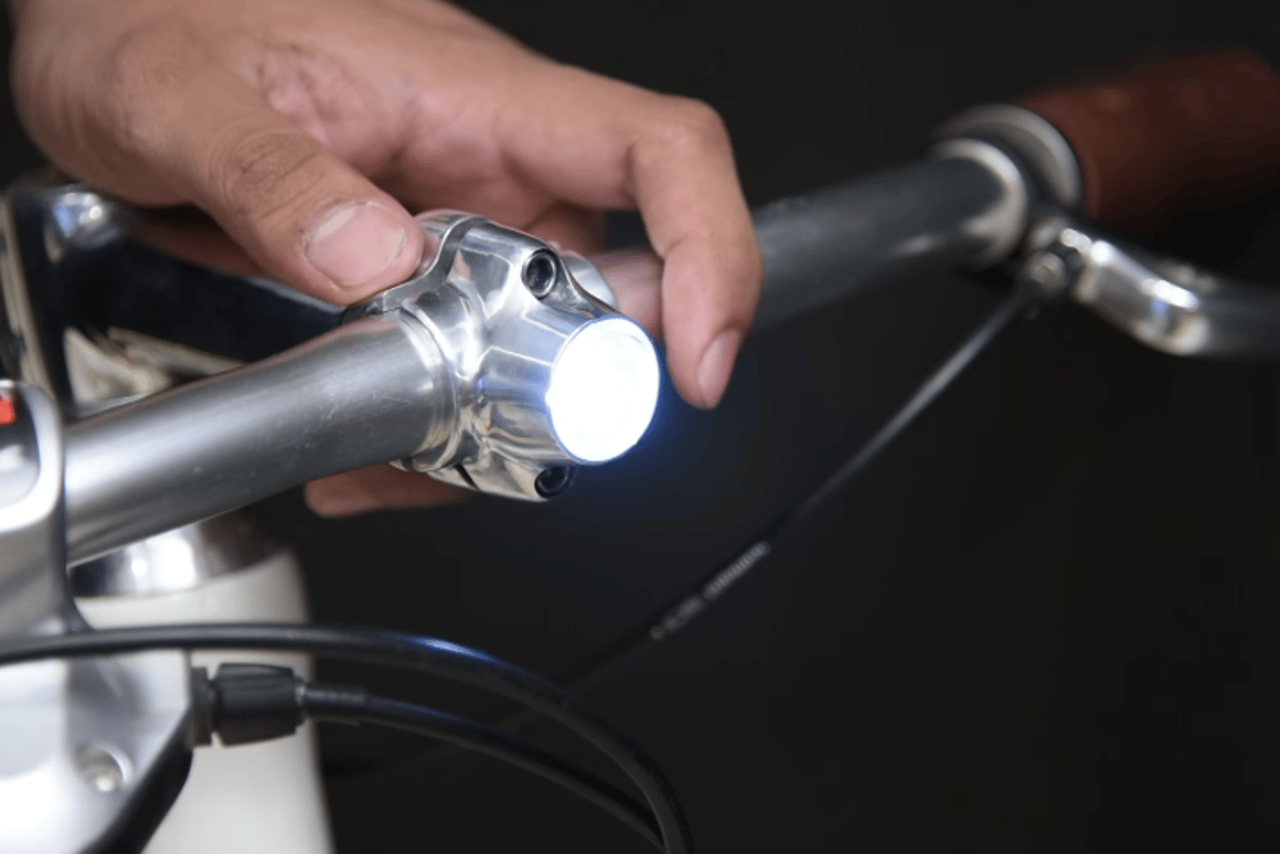The Lumineer provides a more integrated form of lighting than conventional bike lights