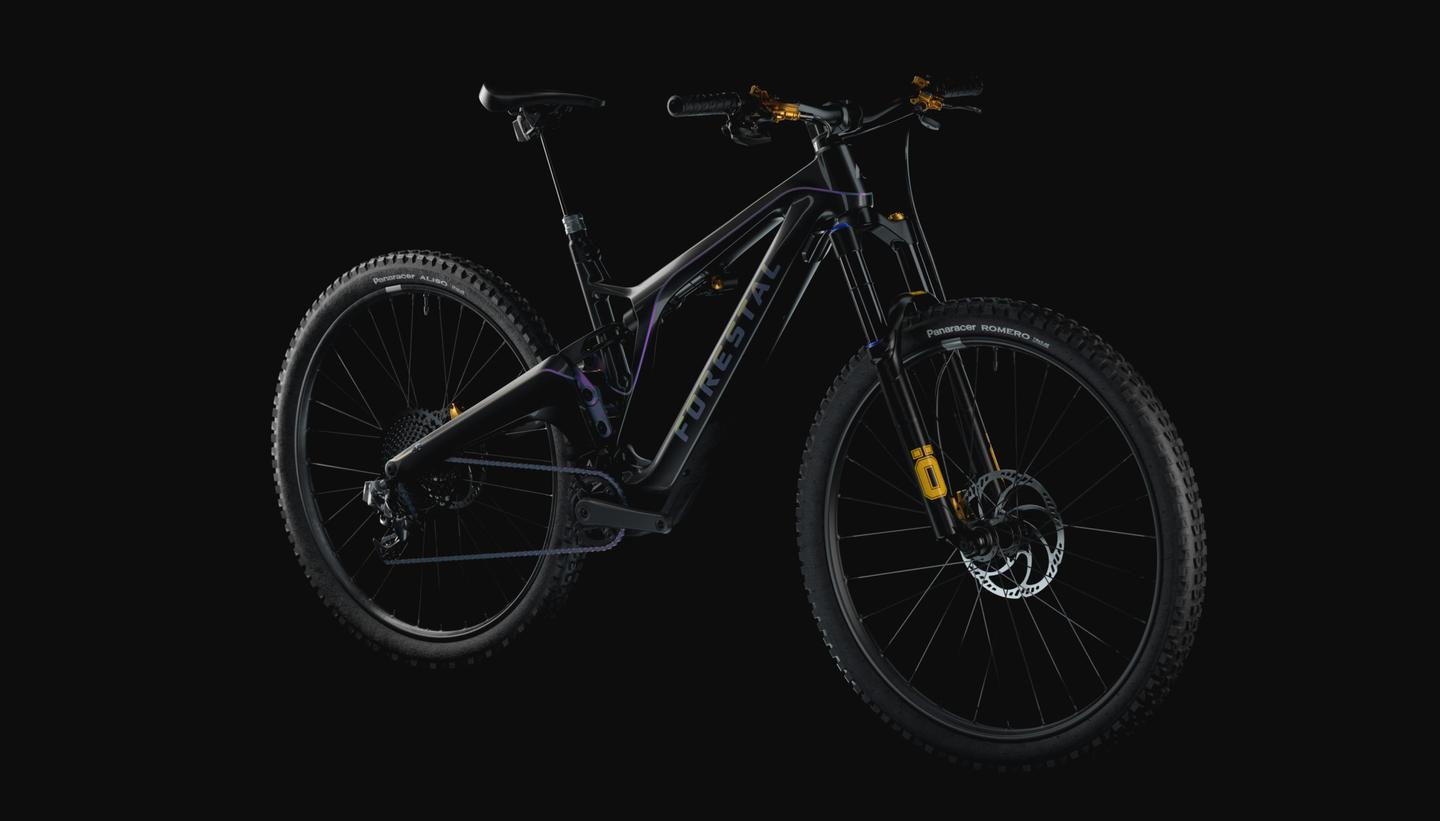 The Forestal Cyon trail ebike weighs in at an impressive 17 kg