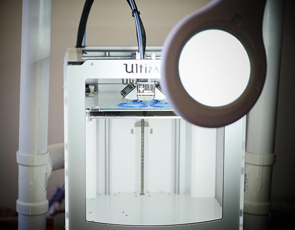 An Ultimaker 2 printing valve parts for the Mini--Farm Grow Box (Photo: Natural News)