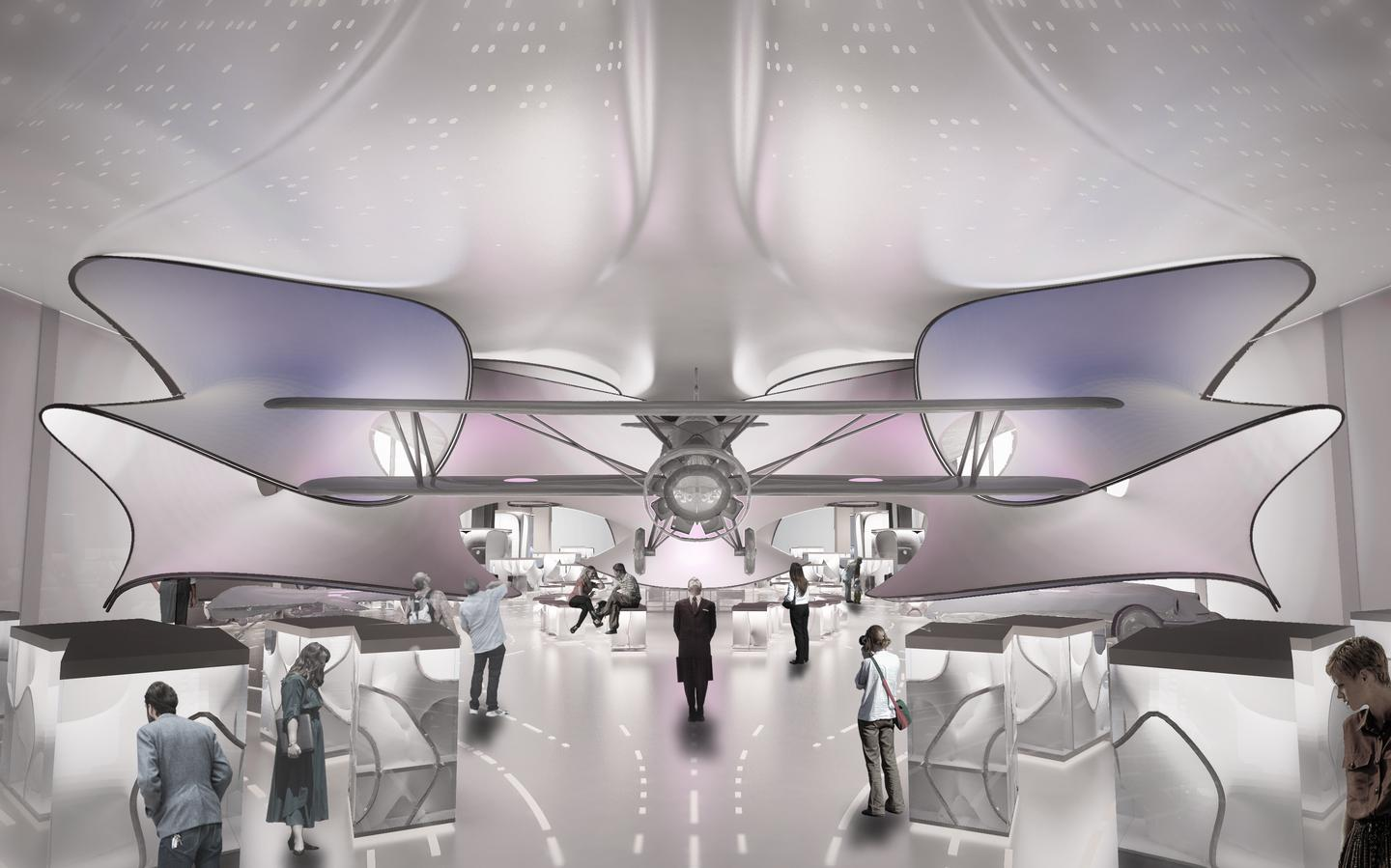 The David and Claudia Harding gallery is due to open in 2016 (Image: Zaha Hadid Architects)