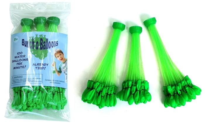 Bunch O Balloons comes in bundles of 37 balloons, which can all be filled simultaneously using a hosepipe