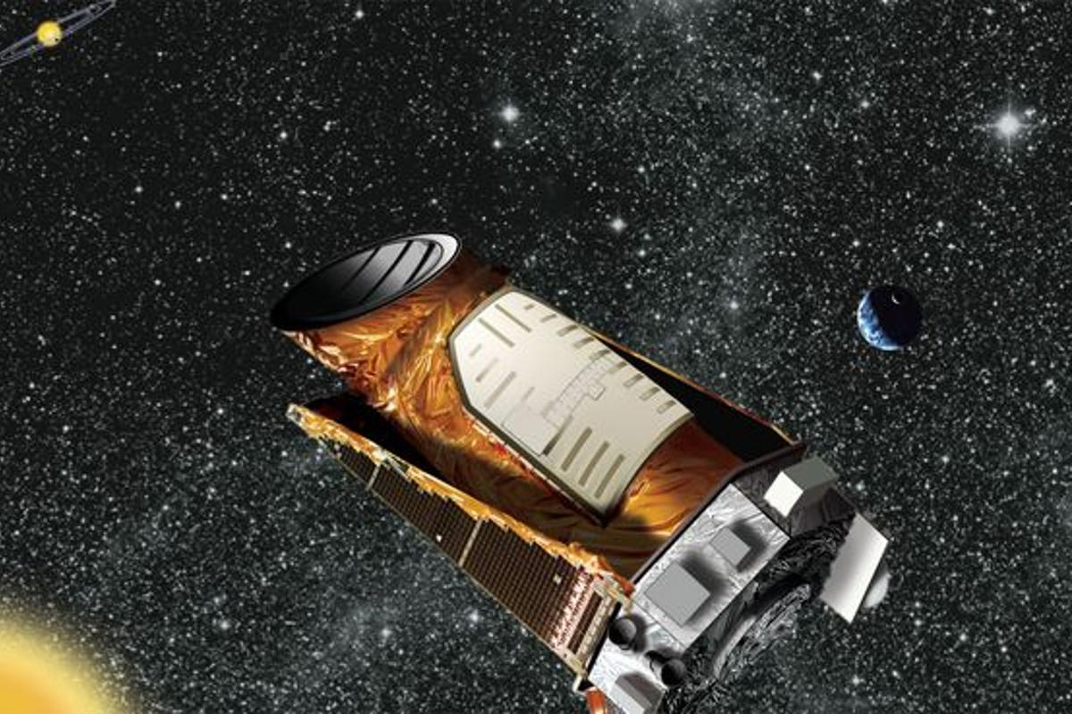 An artist's rendition of the Kepler spacecraft (Image: NASA/JPL-Caltech)
