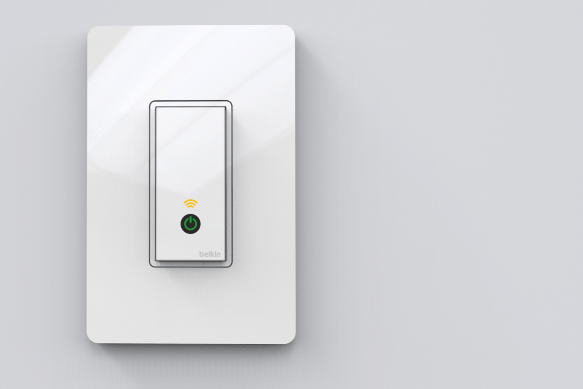 Belkin's WeMo Light Switch allows household lighting to be controlled remotely over the internet