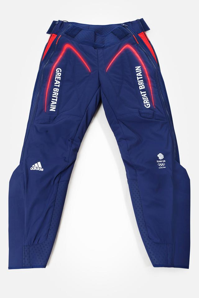 ADIPOWER warming garment pants from adidas retain muscle heat between warm up and race