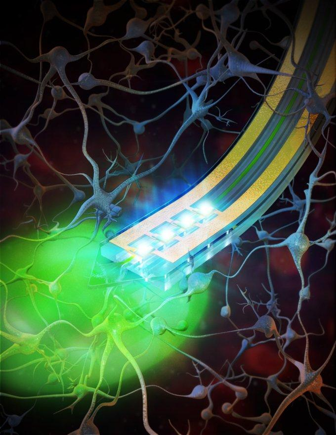 Tiny, implantable devices capable of delivering light or drugs to specific areas of the brain have the potential to improve drug delivery and reduce side effects
