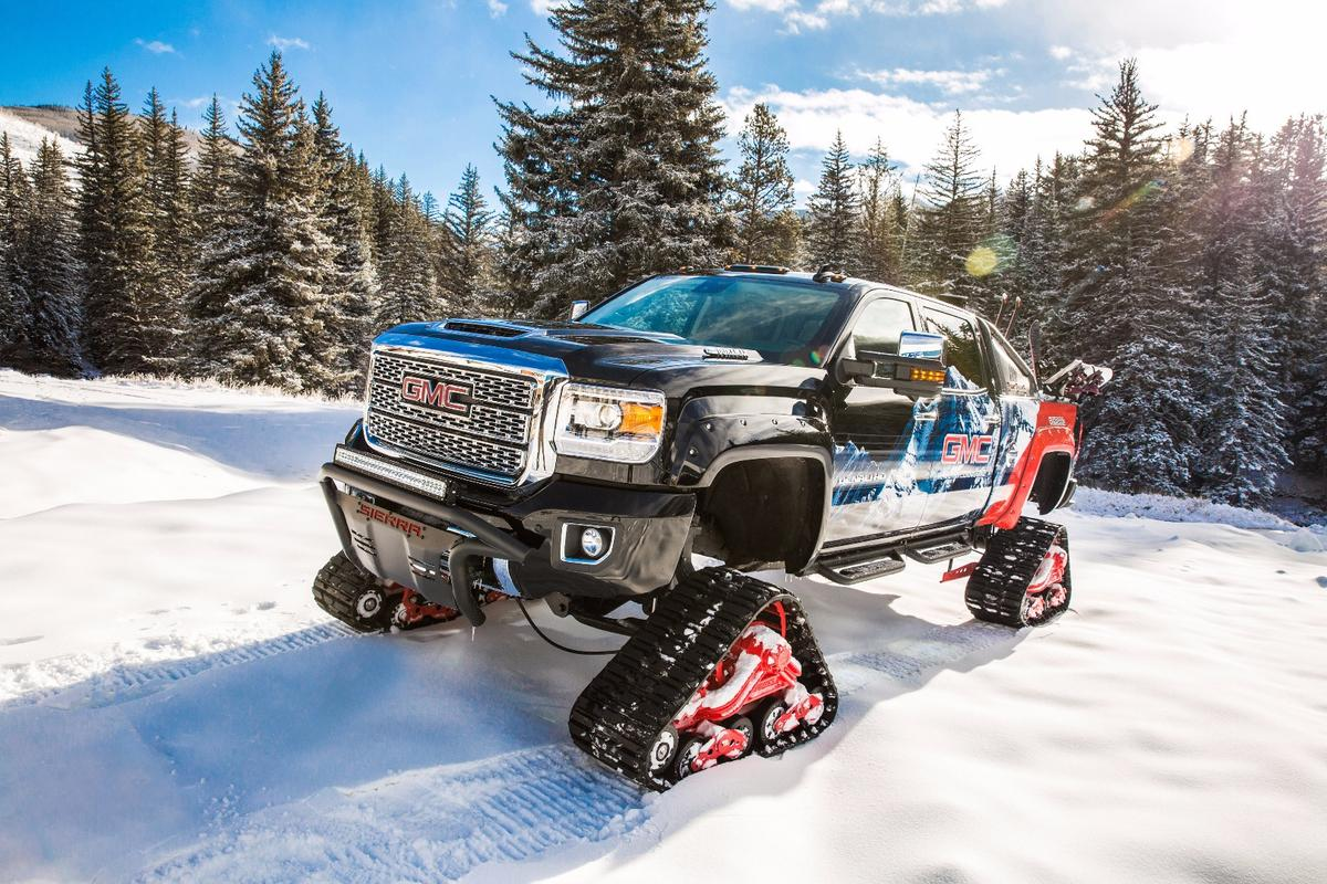 GMC Sierra All Mountain concept:luxury interior meets unstoppable traction