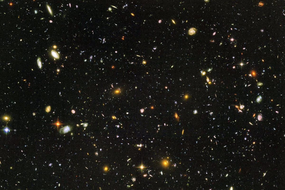 Hubble Ultra Deep Field, showing thousands of galaxies back to a time only a few hundred million years after the Big Bang (Image: NASA)