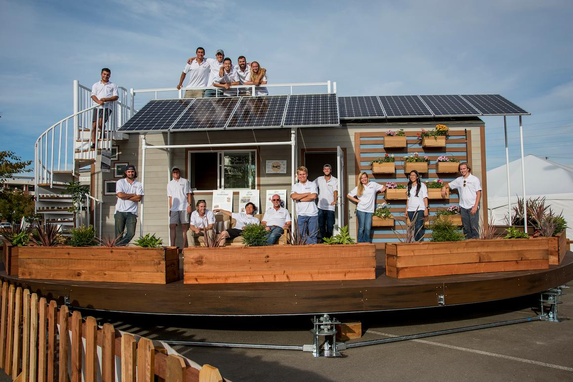 The Revolve House gets all its power from a roof-based solar panel array