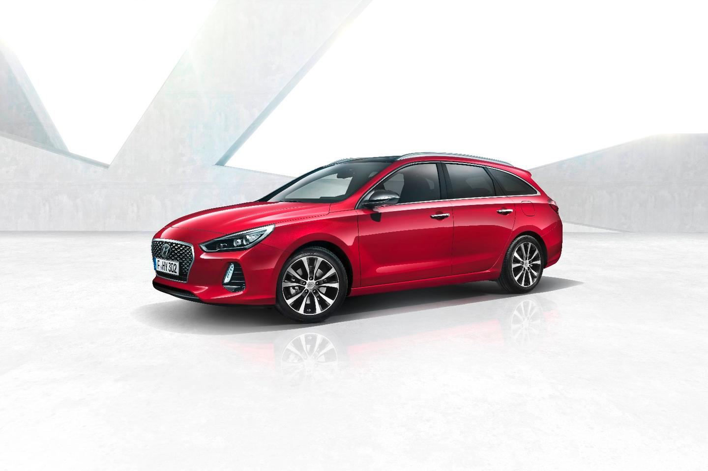 The i30 Tourer is longer and taller than the hatchback it's based on