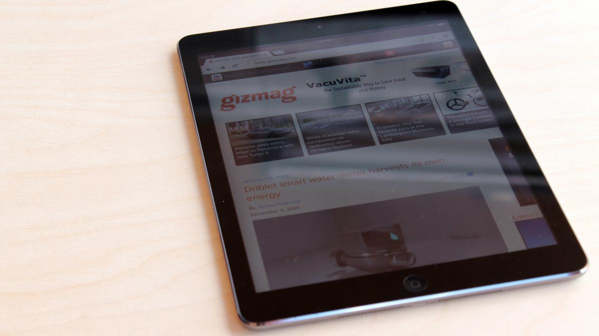 The iPad Air has the same 9.7-in Retina Display from the last two (full-sized) iPads