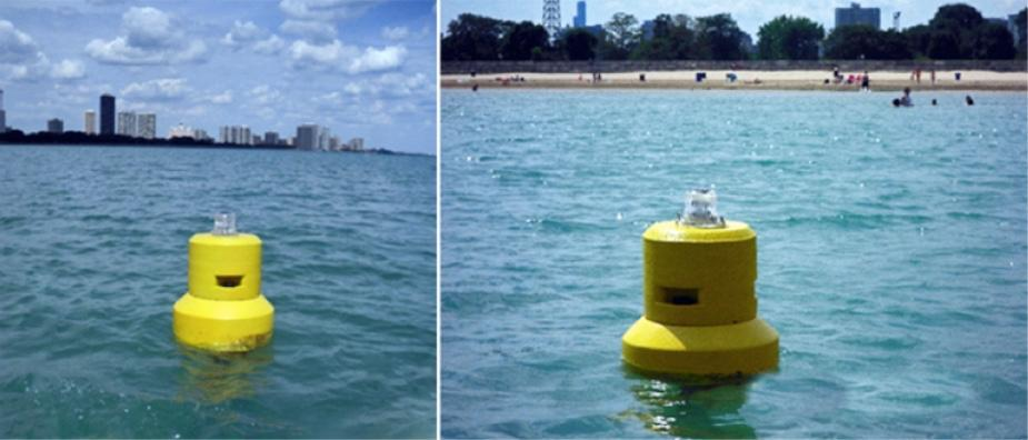 Some of the buoys are already in use, in Lake Michigan