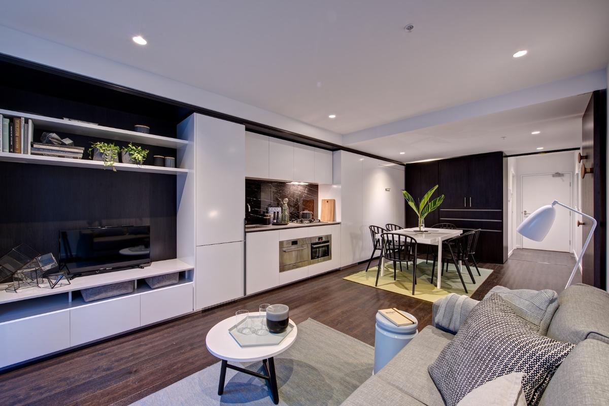 Convertible apartment increases living space by 70 percent