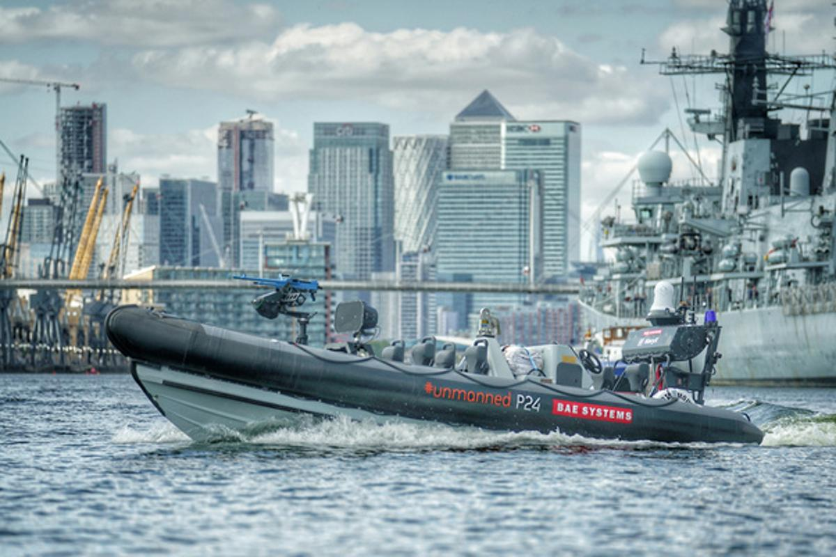 The unmanned P24 RIB will integrate with the systems of a Royal Navy warship for the first time