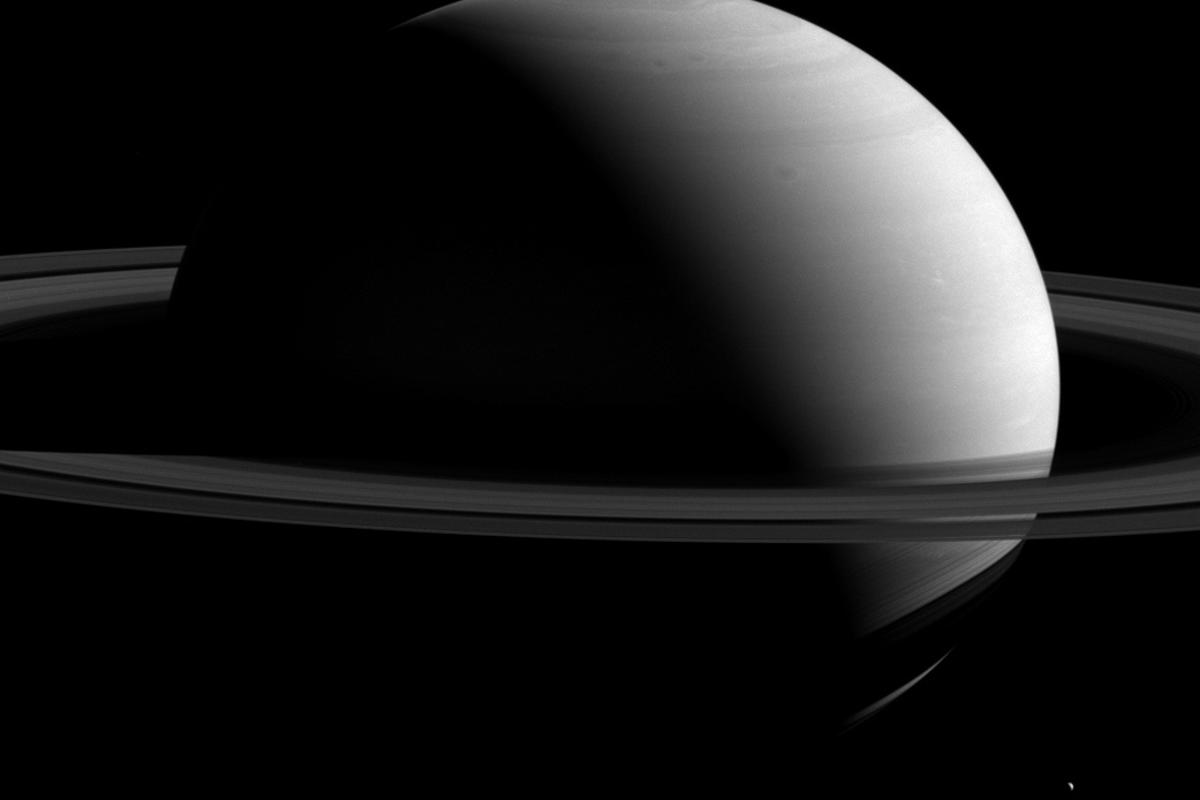 Image of Saturn shot with Cassini's wide-angle camera on Mar. 7, 2015