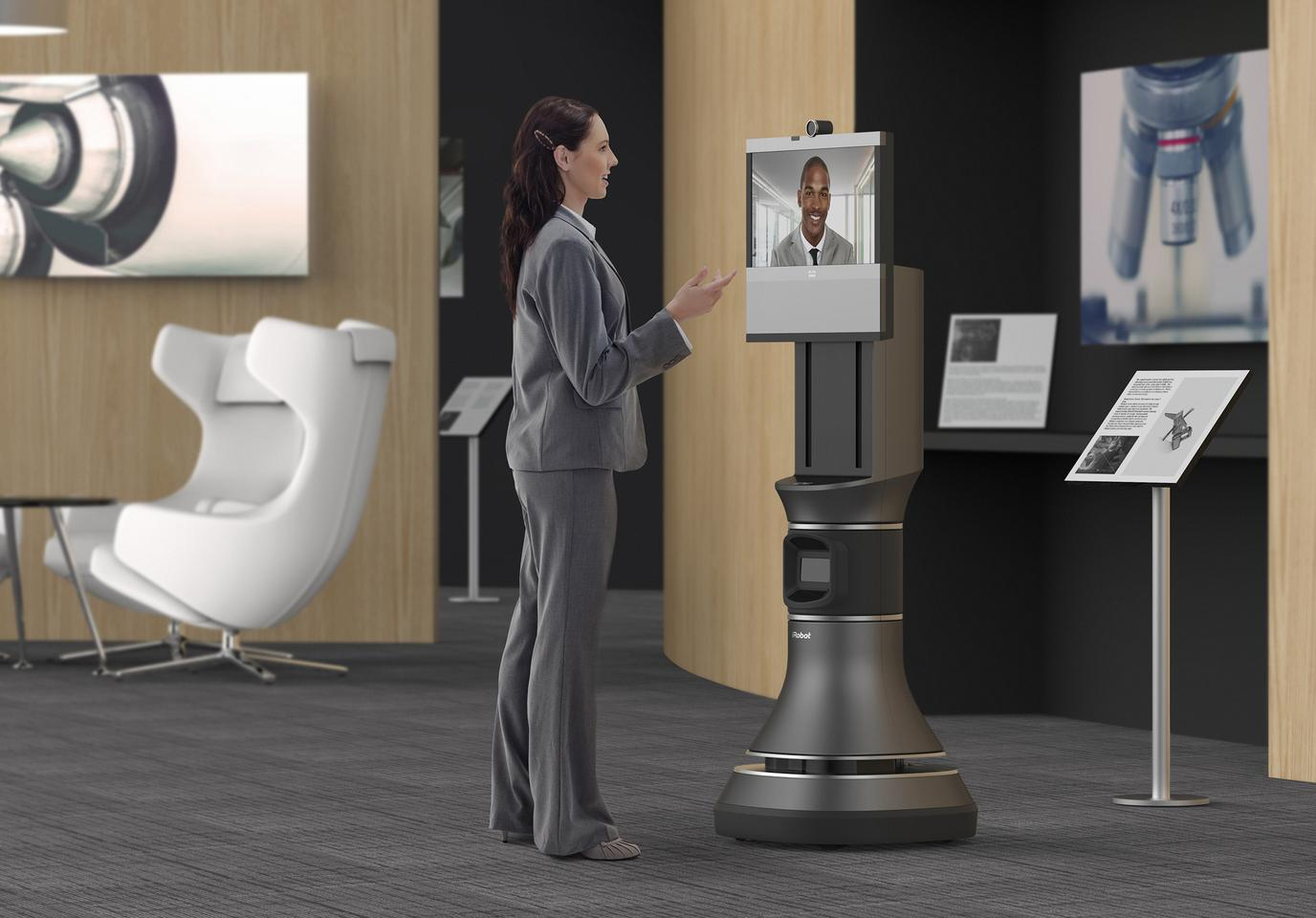 The iRobot Ava 500 is designed for natural interactions