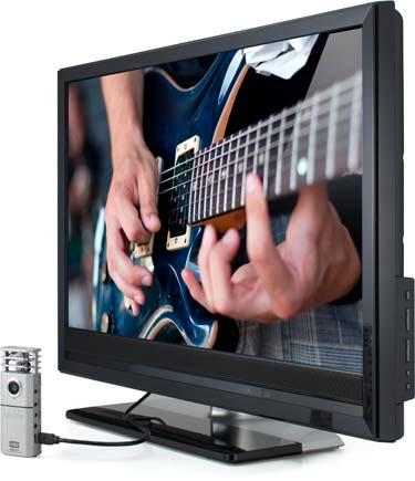 An included HDMI port allows direct connection to a big screen television