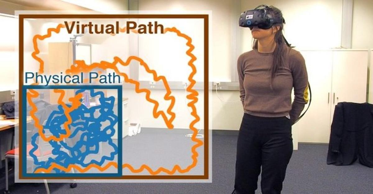 Computer scientists have developed a way to trick VR users into walking around in circles without realizing it, giving them the impression of walking through VR environments that aremuch larger than the real-world room