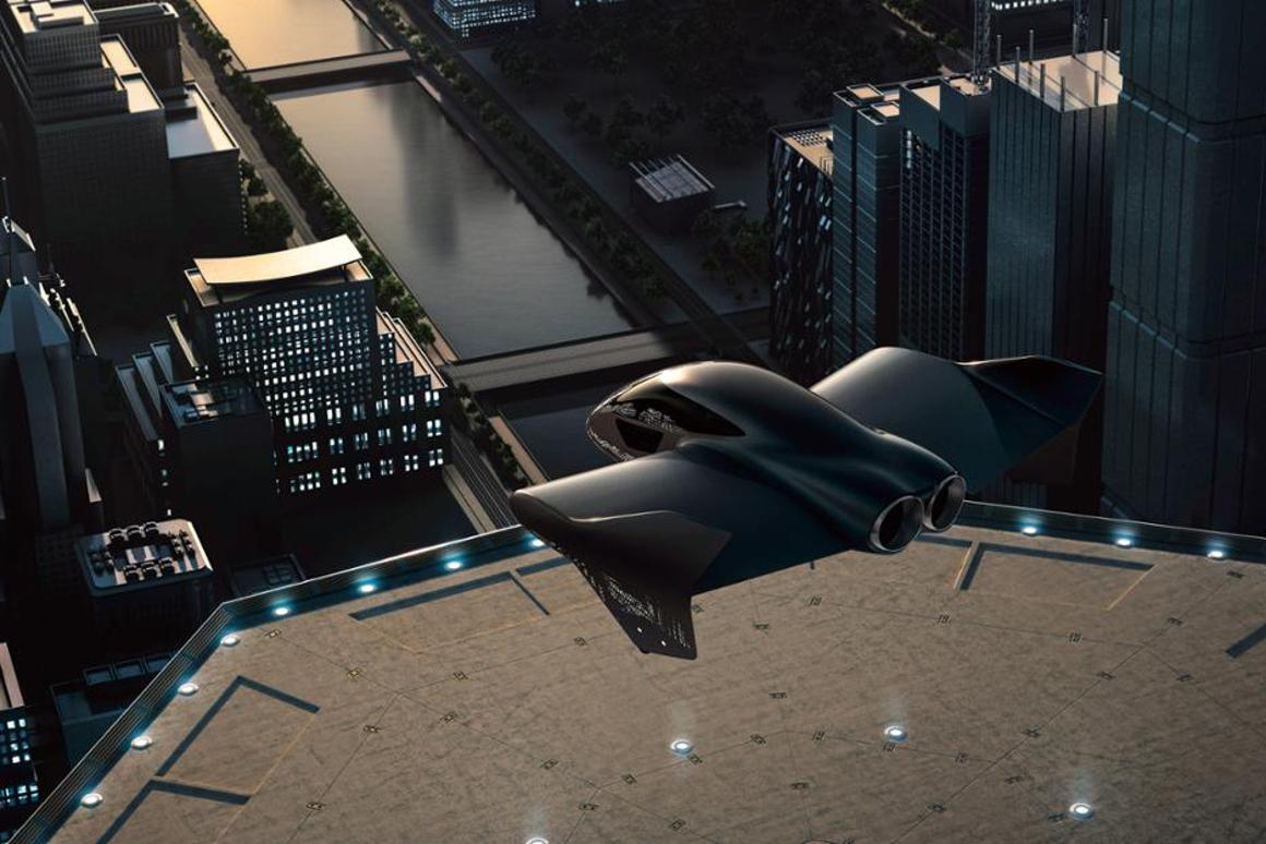 A possible future eVTOL flying taxi, as depicted by Porsche