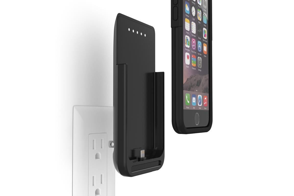 The PWR Case features power prongs on the back for easy charging