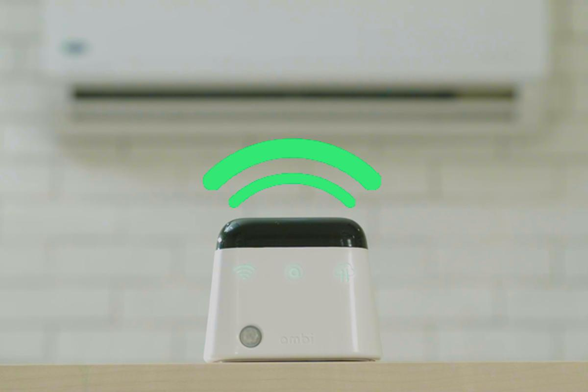 Ambi Climate takes advantage of a Wi-Fi connection to evaluate climate and optimize the performance of your existing air conditioner