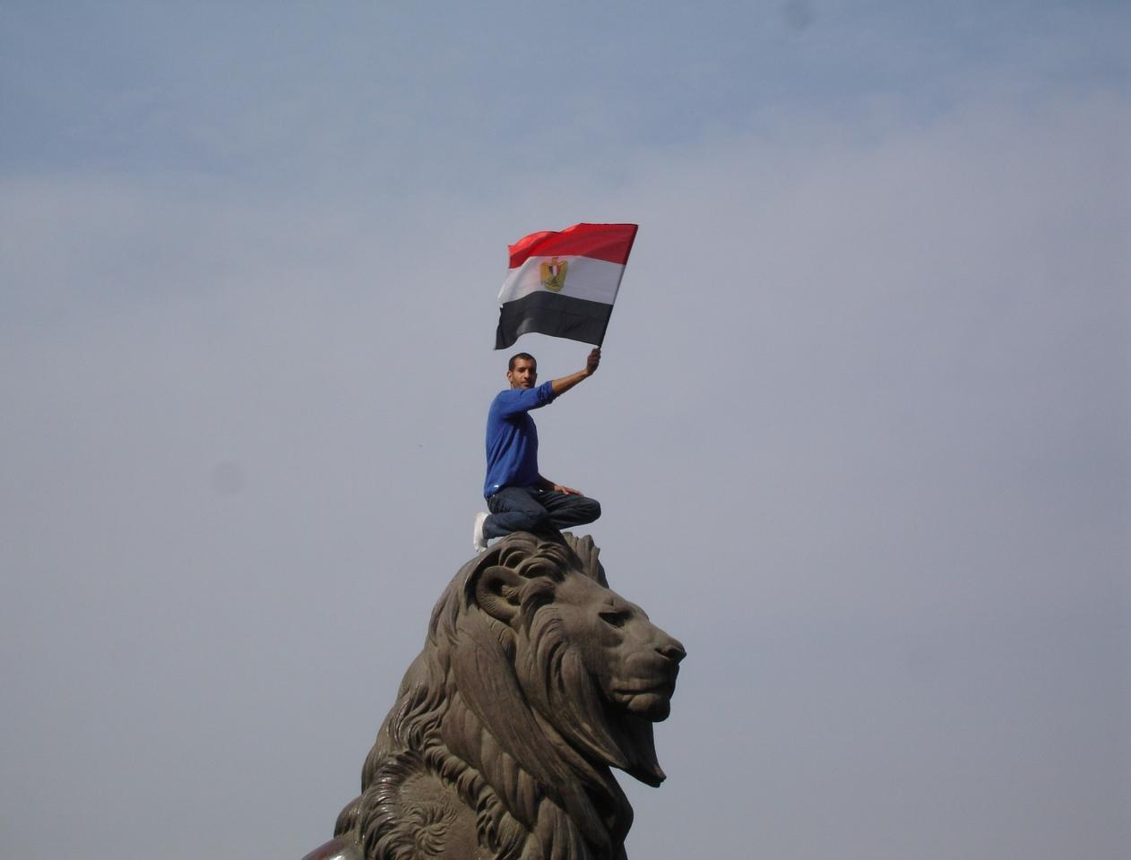 An Egyptian protester during the 2011 revolution. (Credit: Kodak Agfa CC BY-SA 2.0)