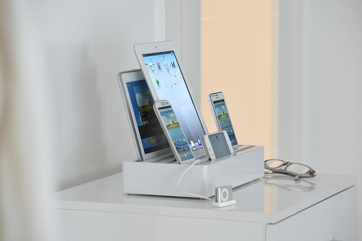 The All-Dock can charge up to six devices at one time