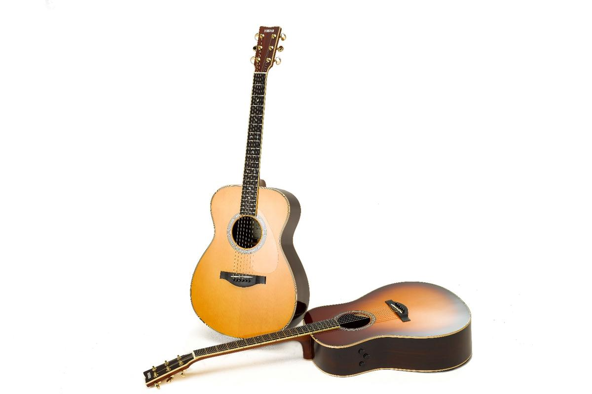 The Yamaha LL-TA dreadnought and LS-TA concert acoustic guitars