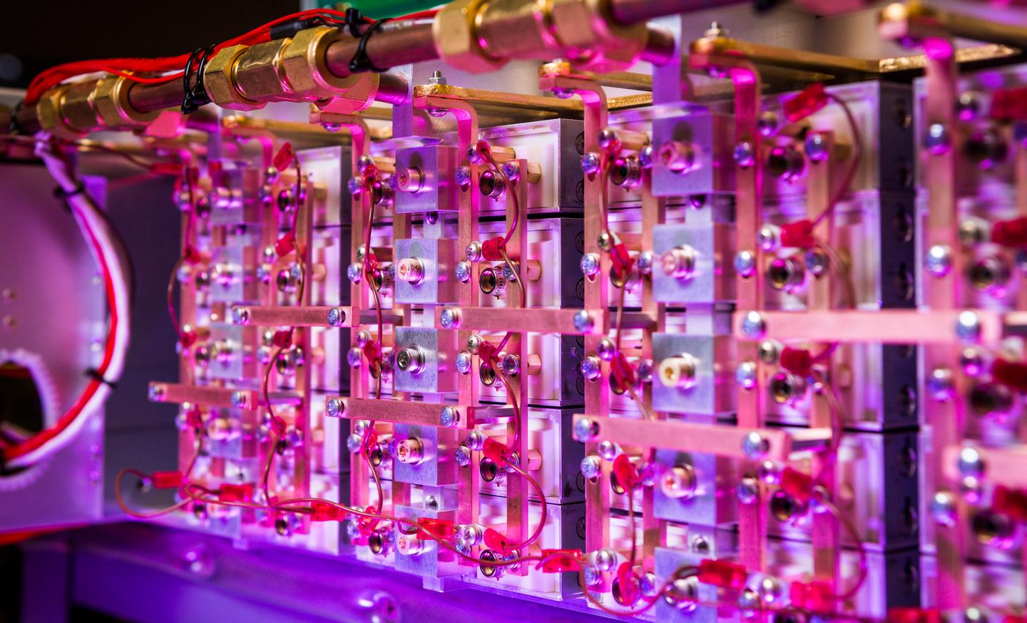The LLNL laser diode arrays are the most powerful of their type ever built, producing an incredible 3.2 million watts of laser power (Photo: Damien Jemison/LLNL)