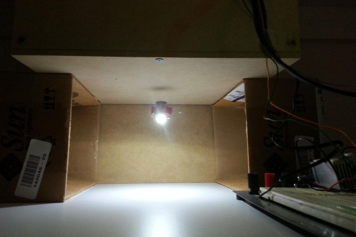 18 year-old engineering student Chris Rieger has spent the last 6 months building his LevLight system, where an LED light module floats in mid-air while wirelessly receiving its power from a coil hidden inside a wooden box
