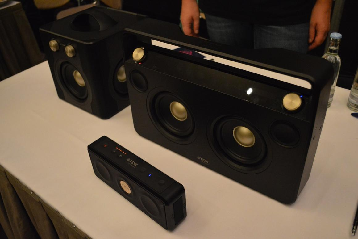 TDK has updated its Life on Record Boombox and Sound Cube to include wireless audio streaming over Bluetooth, and has added a new Weatherproof Speaker to the range