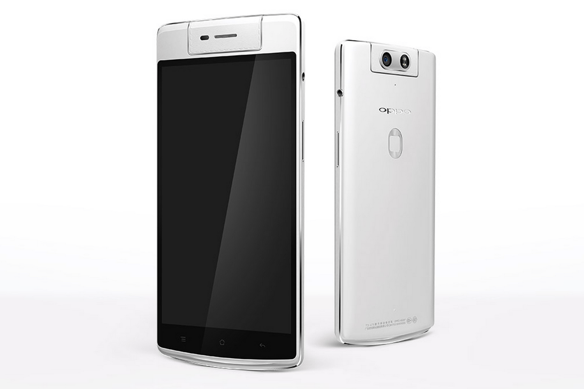 The Oppo N3 smartphone features a swiveling camera, fingerprint sensor and improved internals