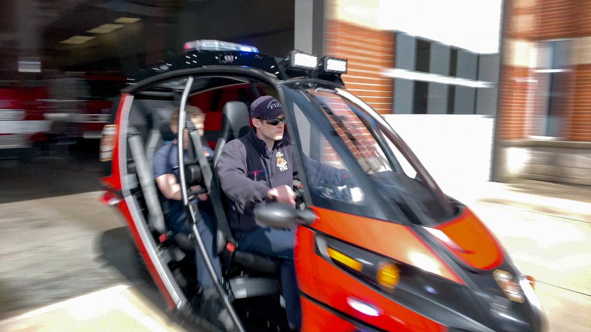The Rapid Responder can carry two fire personnel, along with cargo and equipment
