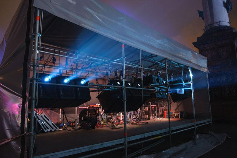 Christie projectors in City Day celebration show in Moscow (Photo: Christie)