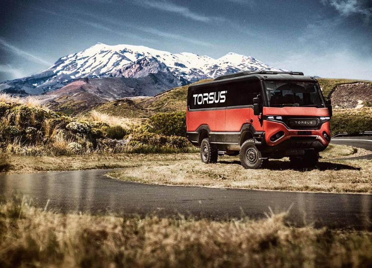 Torsus' Overlander motorhome lets you tour and camp in style ... only the places it goes, there might be no one else there to witness it
