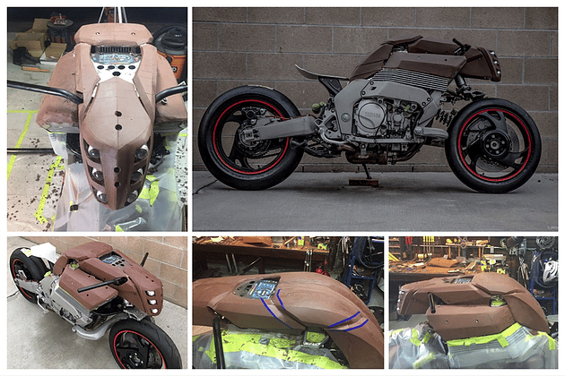 Clay sculpting for the bodywork