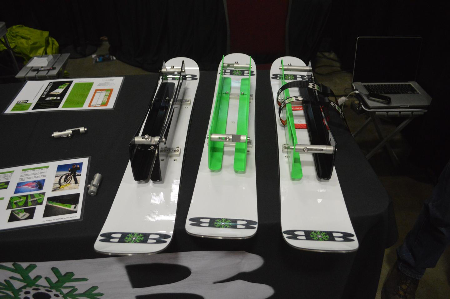 BIkeBoards adjust to various tire sizes